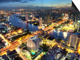 Cityscape at Dusk, Bangkok, Thailand Art