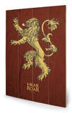 Game of Thrones - Lannister Wood Sign Treskilt