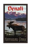 Denali National Park MIL Moose Pal 3039 Photographic Print by Paul A Lanquist