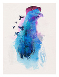 Everybody Flies to London Print by Robert Farkas