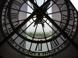 View Across Seine River from Transparent Face of Clock in the Musee d'Orsay, Paris, France Prints by Jim Zuckerman