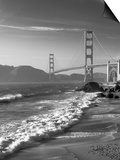 California, San Francisco, Golden Gate Bridge from Marshall Beach, USA Art by Alan Copson