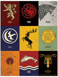 Game of Thrones - Sigils Masterprint