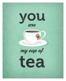 You Are My Cup of Tea (teal) Art by Amalia Lopez