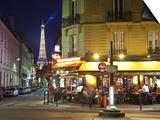Eiffel Tower and Cafe on Boulevard De La Tour Maubourg, Paris, France Prints by Jon Arnold