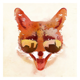 Big Town Fox Art by Robert Farkas