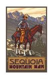Sequoia National Park Mountain Man Pal 1215 Photographic Print by Paul A Lanquist