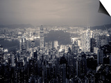 Victoria Harbour and Skyline from the Peak, Hong Kong, China Poster by Jon Arnold