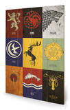 Game of Thrones - Sigils Wood Sign Houten bord
