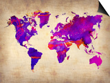 World Watercolor Map 5 Prints by  NaxArt