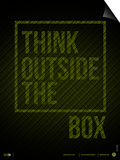 Think Outside of The Box Poster Plakaty autor NaxArt