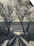 New York, Long Island, Cutchogue, Horton Point Lighthouse Stairs and Long Island Sound, USA Posters by Walter Bibikow