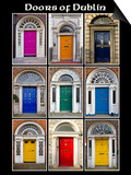 The Old Georgian Doors Of Dublin Prints by Domenico Matteo