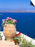 Fira, Island of Santorini (Thira), Cyclades Islands, Aegean, Greek Islands, Greece, Europe Posters by Sergio Pitamitz