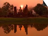 Wat Mahathat, Sukhothai Historical Park, UNESCO World Heritage Site, Sukhothai Province, Thailand,  Prints by Ben Pipe