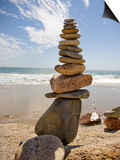 Rocks Balancing at the Beach, Aquinnah, Martha's Vineyard, Ma Posters by Frank Rapp