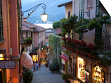 Shopping Street at Dusk, Bellagio, Lake Como, Lombardy, Italy, Europe Art by Frank Fell