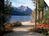 Sawtooth Mountains, ID, Stanley Lake Print by Mark Gibson