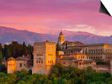 The Alhambra Palace at Sunset, Granada, Granada Province, Andalucia, Spain Poster by Doug Pearson
