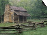 John Oliver Cabin in Cades Cove, Great Smoky Mountains National Park, Tennessee, USA Art by Adam Jones