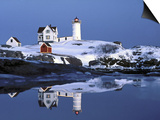 Nubble at Christmas Time in New England Prints by Robert Ginn