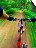 Mountain Bike Trail Riding Prints by Chuck Haney