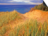 Sand Dunes Along Lake Superior at Pictured Rocks National Seashore, Grand Marais, Michigan, USA Posters by Chuck Haney