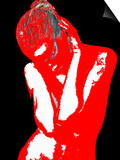 Red Black Drama Posters by  NaxArt