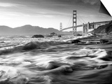 California, San Francisco, Golden Gate Bridge from Marshall Beach, USA Posters by Alan Copson