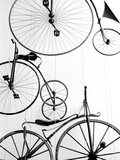 Bicycle Display at Swiss Transport Museum, Lucerne, Switzerland Art by Walter Bibikow