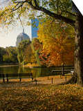 Public Gardens in the Fall, Boston, MA Prints by James Lemass
