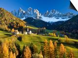 Mountains, Geisler Gruppe/ Geislerspitzen, Dolomites, Trentino-Alto Adige, Italy Print by Gavin Hellier