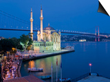 Bosphoros River Bridge and Ortakoy Camii Mosque, Ortakoy District, Istanbul, Turkey Print by Gavin Hellier