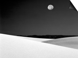 Nighttime with Full Moon Over the Desert, White Sands National Monument, New Mexico, USA Poster by Jim Zuckerman