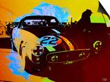 Ferrari Watercolor Poster by  NaxArt