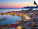 Harbour at Dusk, Pythagorion, Samos, Aegean Islands, Greece Stampa di Stuart Black