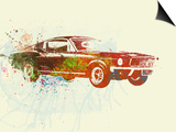 Ford Mustang Watercolor Prints by  NaxArt