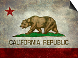 California State Flag With Distressed Treatment Poster by Bruce stanfield