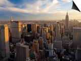 New York City, Manhattan, View of Downtown and Empire State Building from Rockerfeller Centre, USA Prints by Gavin Hellier