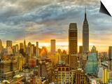 USA, New York, Manhattan, Midtown Skyline Including Empire State Building Art by Alan Copson