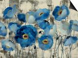 Aquamarine Floral Prints by Silvia Vassileva