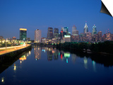 Skyline and Schuykill River, Philadelphia, PA Art by James Lemass