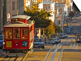 Cable Car on Powell Street in San Francisco, California, USA Posters by Chuck Haney