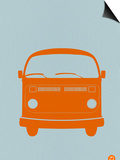 Orange VW Bus Poster by  NaxArt