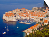 Unesco World Heritage Old Town Harbour, Dubrovnik, Croatia Prints by Christian Kober
