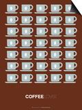 Brown Coffee Poster Prints by  NaxArt