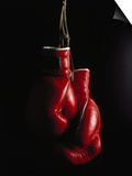 Hanging Boxing Gloves Poster by Ernie Friedlander