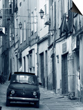 Fiat Driving in Narrow Street, Sassari, Sardinia, Italy Print by Doug Pearson