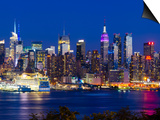 USA, New York, Manhattan, Midtown Skyline with the Empitre State Building across the Hudson River Prints by Alan Copson