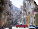 View Along Congested Street in Havana Centro, Cuba Posters by Lee Frost
